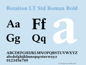 Rotation LT Std Roman