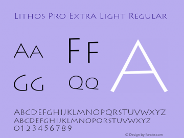 Lithos Pro Extra Light