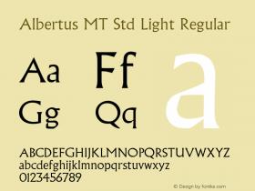 Albertus MT Std Light