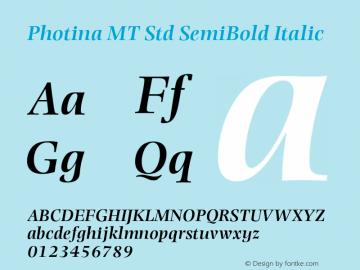 Photina MT Std SemiBold