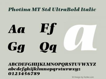 Photina MT Std UltraBold