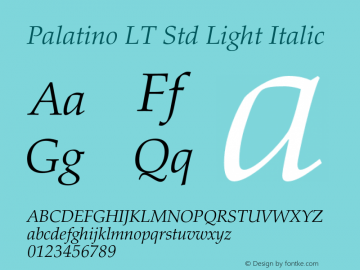 Palatino LT Std Light