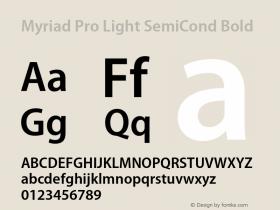 Myriad Pro Light SemiCond
