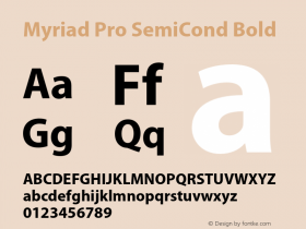 Myriad Pro SemiCond