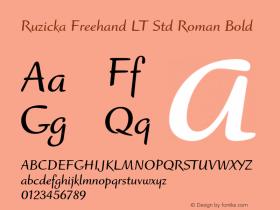 Ruzicka Freehand LT Std Roman