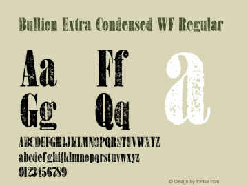 Bullion Extra Condensed WF