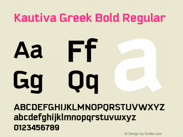 Kautiva Greek Bold