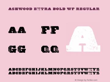 Ashwood Extra Bold WF