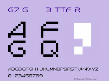 G7 Gradius3 TTF
