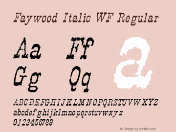 Faywood Italic WF