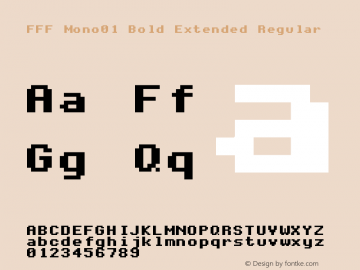 FFF Mono01 Bold Extended