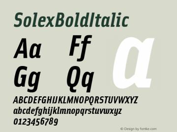 SolexBoldItalic