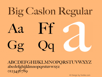 Big Caslon