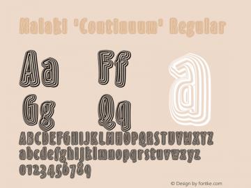 Malaki 'Continuum'
