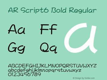 AR Script6 Bold