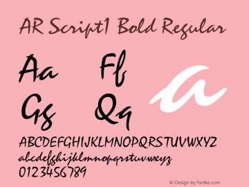 AR Script1 Bold