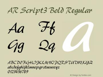AR Script3 Bold