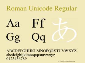 Roman Unicode