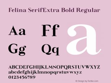 Felina SerifExtra Bold