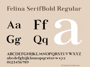 Felina SerifBold