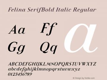 Felina SerifBold Italic