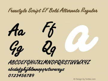Freestyle Script EF Bold Alternate