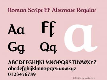 Roman Script EF Alternate