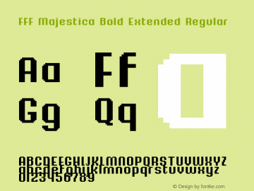 FFF Majestica Bold Extended