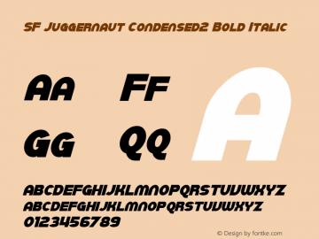SF Juggernaut Condensed2