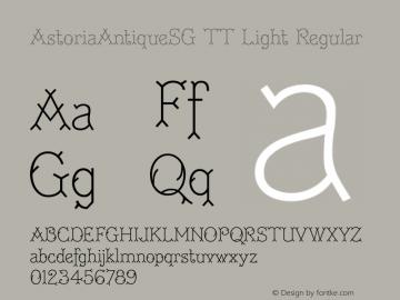 AstoriaAntiqueSG TT Light