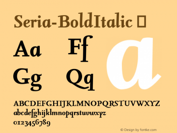 Seria-BoldItalic