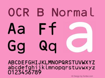 OCR B