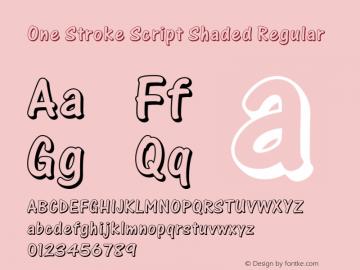One Stroke Script Shaded