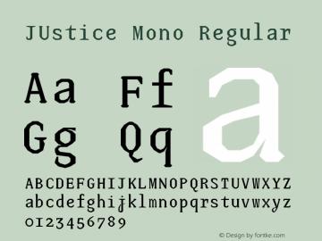 JUstice Mono