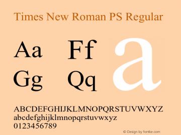 Times New Roman PS