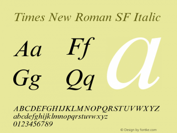 Times New Roman SF