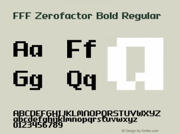FFF Zerofactor Bold
