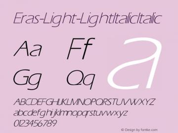 Eras-Light-Light Italic