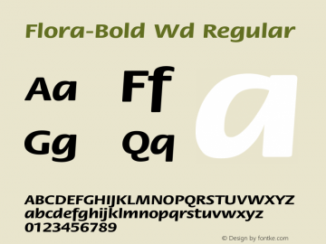 Flora-Bold Wd