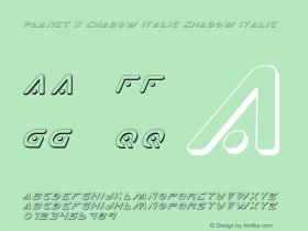 Planet X Shadow Italic