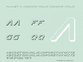 Planet N Shadow Italic