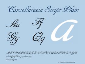 Cancellaresca Script