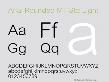 Arial Rounded MT Std