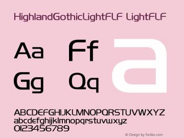 HighlandGothicLightFLF