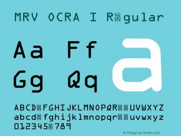 MRV OCRA I