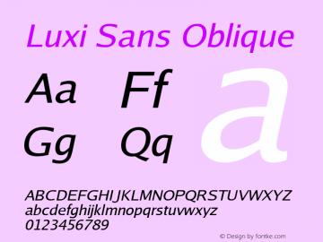 Luxi Sans