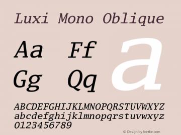 Luxi Mono