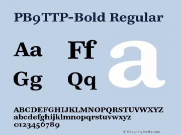 PB9TTP-Bold