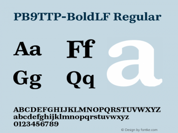 PB9TTP-BoldLF