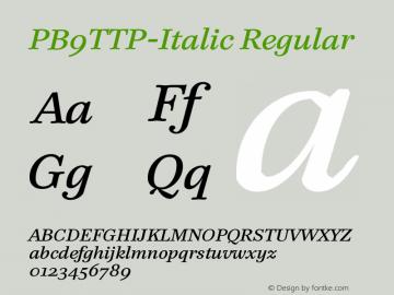PB9TTP-Italic